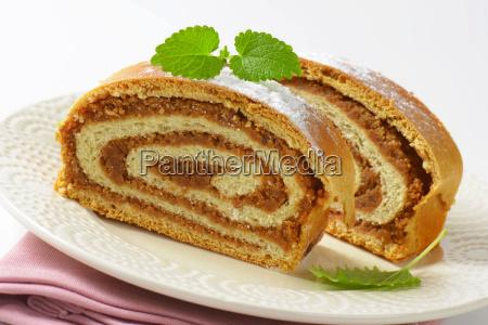 walnut roll slices