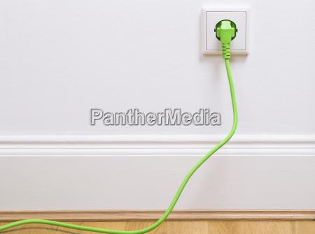 power plug into the socket