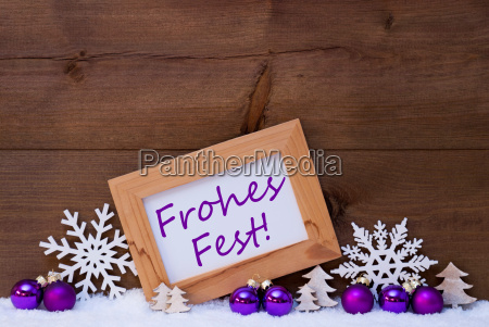 purple decoration snow frohes fest mean