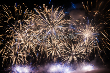 colorful fireworks on the night sky