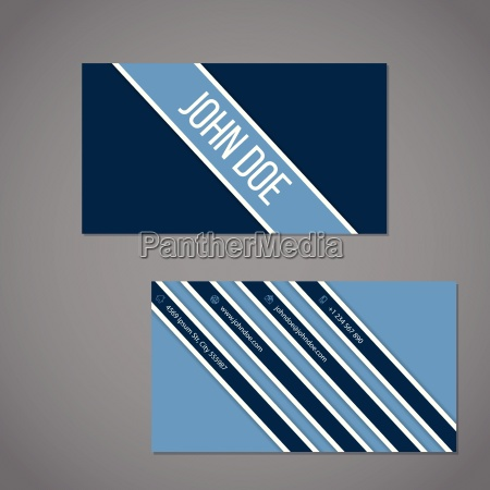 simplistic business card with stripe design
