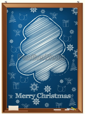 chalkboard greeting card design with scribbled