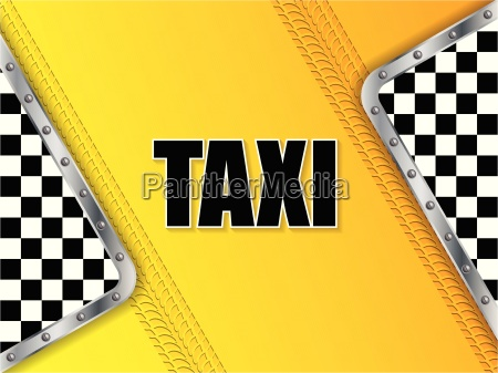 abstract taxi advertising background with tire