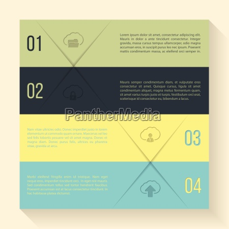 infographic design with cloud icons