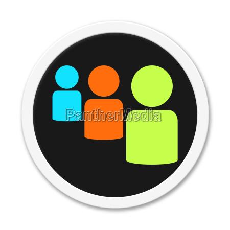 button around 3 icons icon