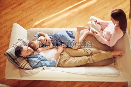 family having rest