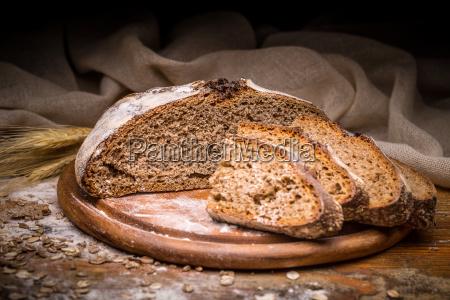 sliced artisan bread