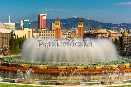 magic fountain of montjuic in barcelona
