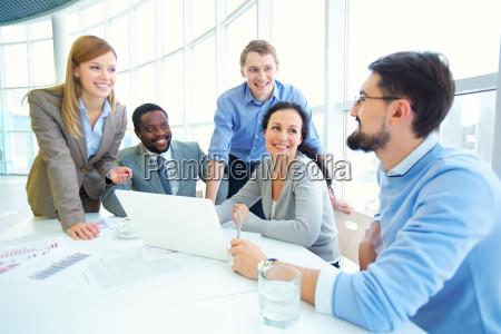 listening to businessman