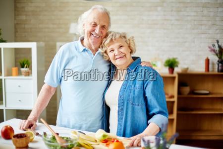 senior vegetarians