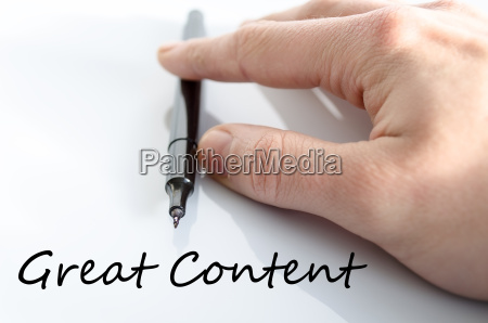 great content text concept