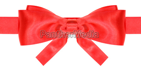 symmetric red bow with square cut