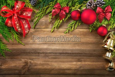 christmas decoration as a frame on