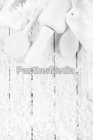 monochromatic white cooking or baking concept