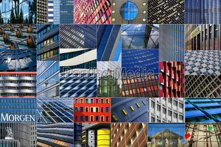 facades of modern architecture in the