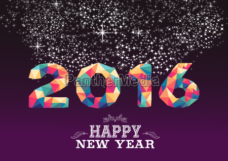 happy new year 2016 color triangle