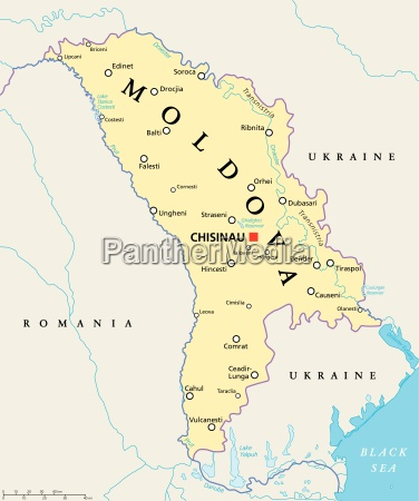 moldova political map