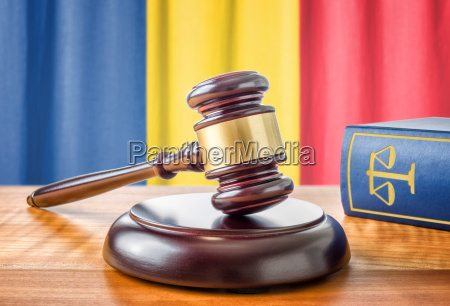 gavel and law book romania