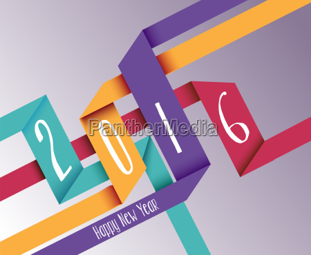 happy new year 2016 simple origami
