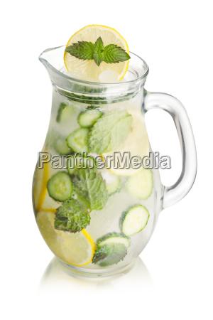sparkling cucumber lemonade