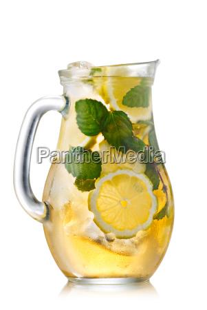 iced tea in a jug