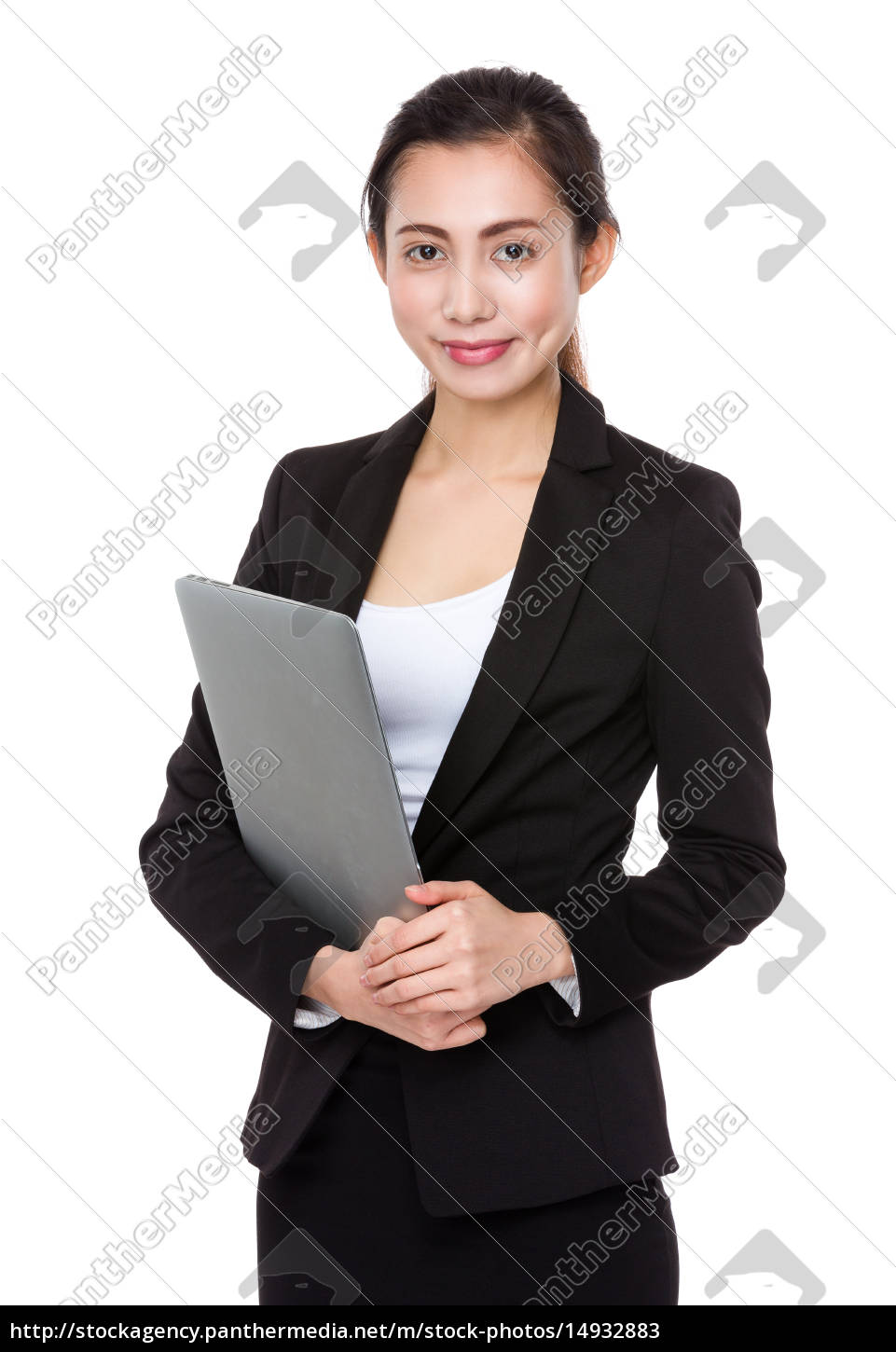 asian, young, businesswoman, hold, with, laptop - 14932883