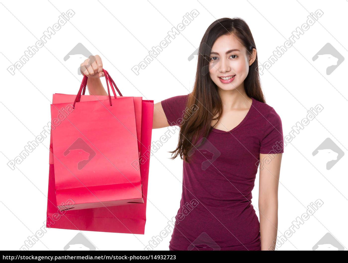 asian, young, woman, hold, with, shopping - 14932723