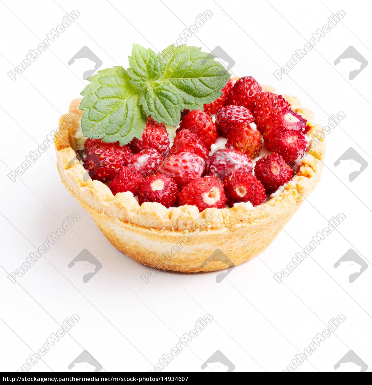 dessert, with, wild, strawberries - 14934607