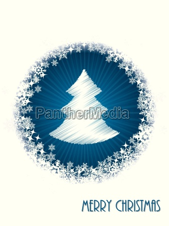 white christmas greeting card with bursting