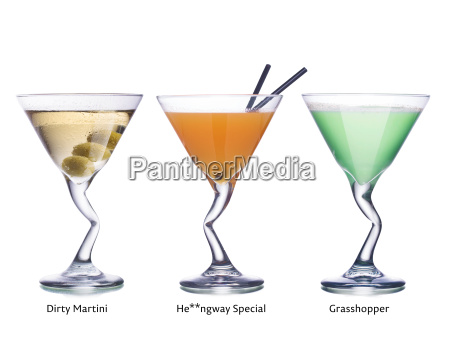 cocktails, in, martini, glasses - 14938949