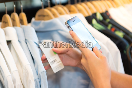 checking price with smartphone