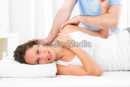 young attarctive woman being manipulated by
