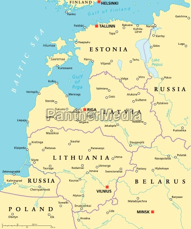 baltic countries political map