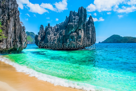 tropical beach and mountain islands