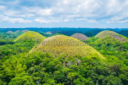 famous chocolate hills natural landmark in