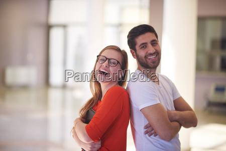 students, couple, standing, together - 14942207