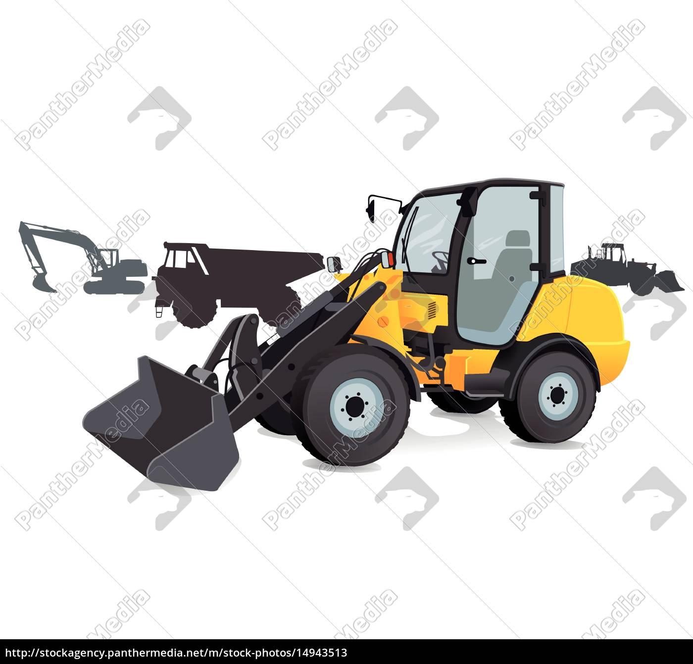 construction, -, shovels, excavators, trucks, - 14943513