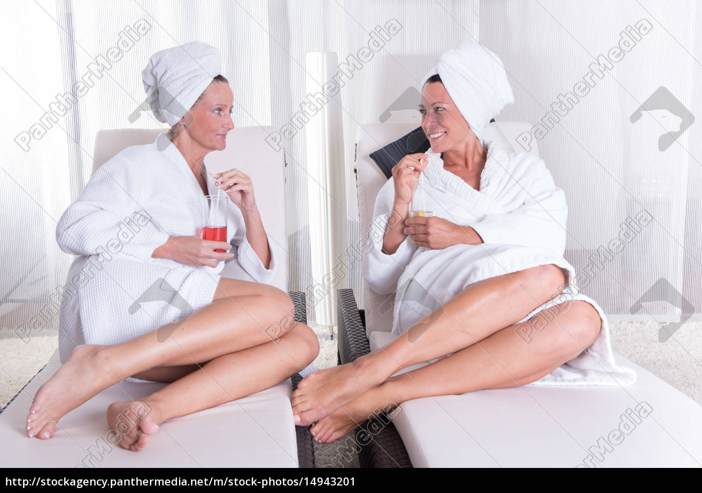 two, attractive, women, resting, after, the - 14943201