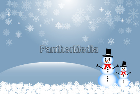 winter greetings card
