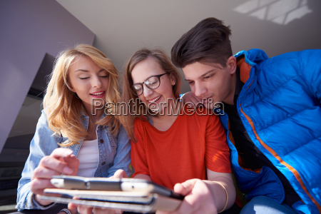 students, group, working, on, school, - 14946851