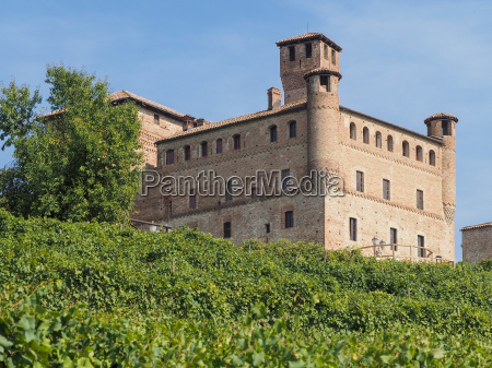 castle of grinzane cavour surrounded by