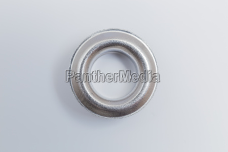 hole rivets isolated on a bright