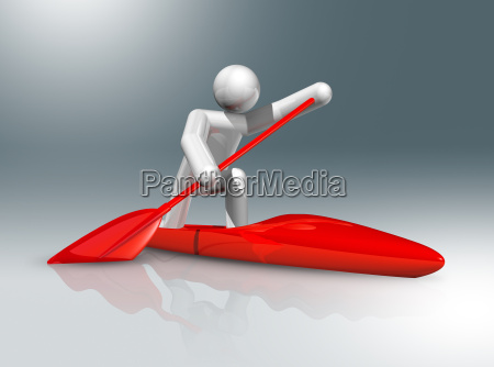 canoe sprint 3d symbol olympic sports