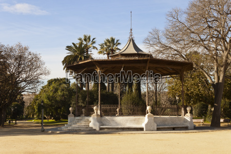 bandstand in the ciutadella park in