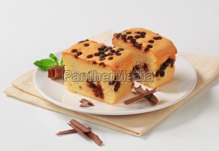 sponge cake with chocolate chips
