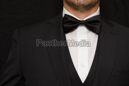 gentleman in black tie