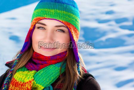 beautiful winter portrait of woman