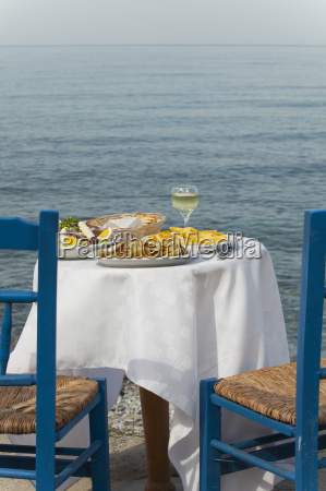 greek food outdoors in summer