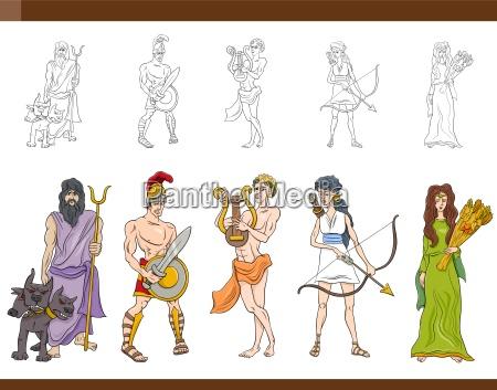 dioses griegos ilustracion