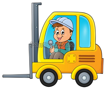 fork lift truck theme image 2